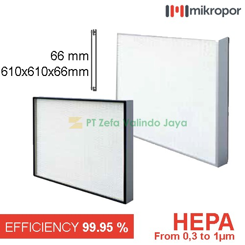 Mikropor HEPA/EPA Filter HFN Series Aluminium Profile HFN-610/610/66-13APD 66mm 1unit