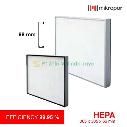 Mikropor HEPA / EPA Filter HFN Series Aluminium Profile HFN-305/305/66-13APD2G-S 66mm
