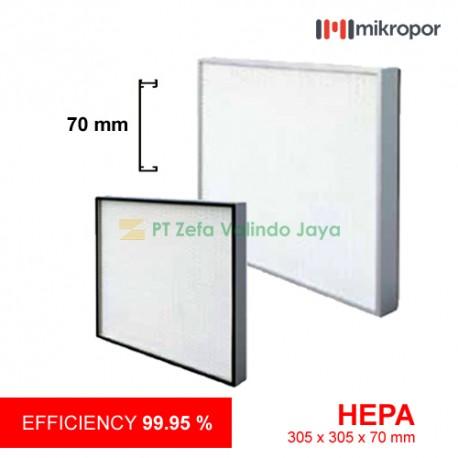 Mikropor HEPA / EPA Filter HFN Series Aluminium Profile HFN-305/305/70-13APU2G