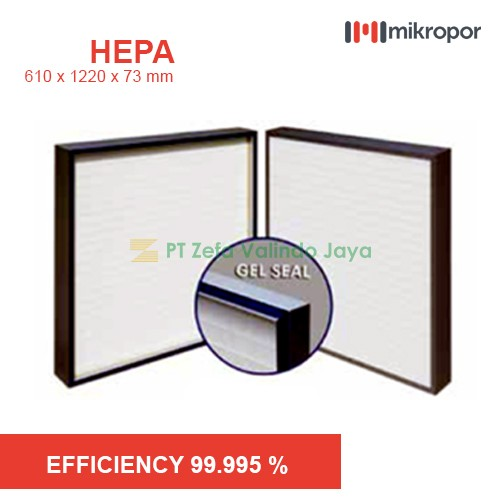 Mikropor HEPA / EPA Filter HFN SERIES GEL SEAL HFN 610/1220/73-14APJ