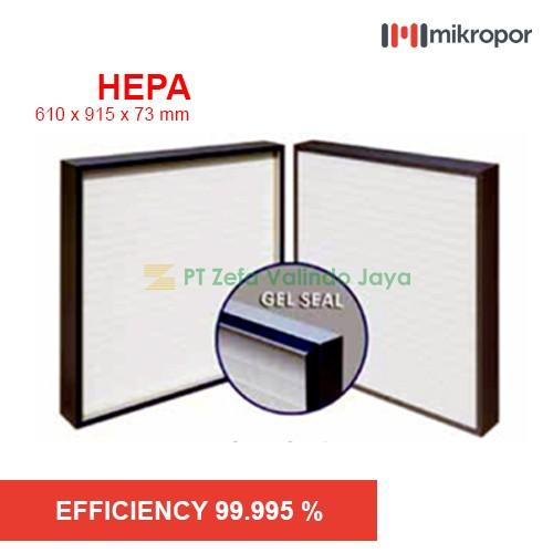 Mikropor HEPA / EPA Filter HFN SERIES GEL SEAL HFN 610/915/73-14APJ