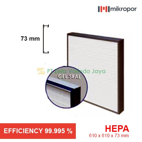 Mikropor HEPA/EPA Filter HFN Series Gel Seal HFN 610/610/73-14APJ