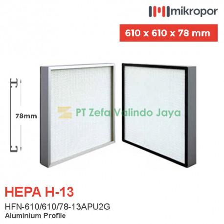 Mikropor HEPA Filter H13 HFN Series Aluminium Profile HFN-610/610/78-13APU2G