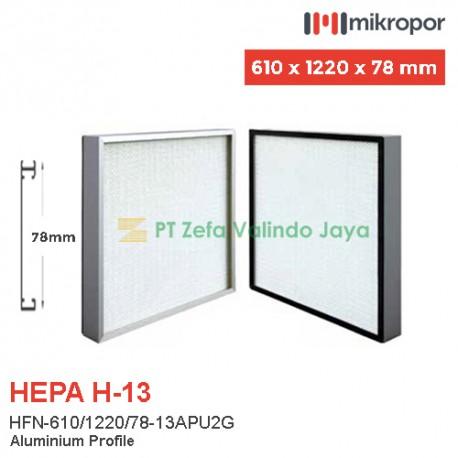 Mikropor HEPA Filter H13 HFN Series Aluminium Profile HFN-610/1220/78-13APU2G