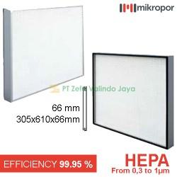 HEPA FILTER 305 x 610 x 66 mm